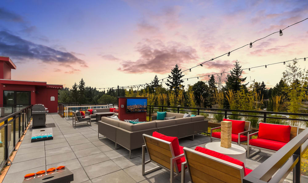 Rooftop accommodations at Tria Apartments