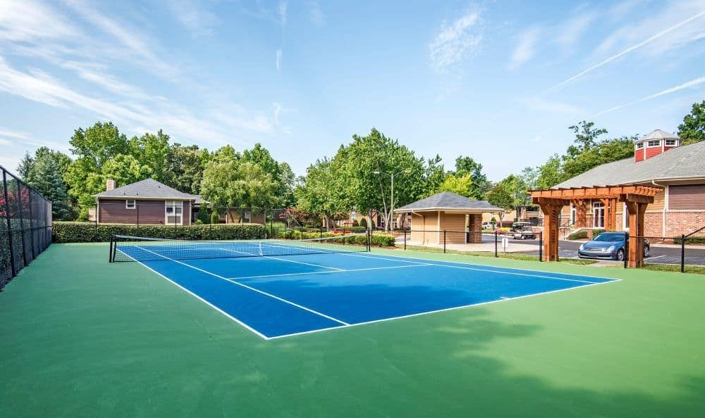 Tennis court at Six Forks Station in Raleigh, NC