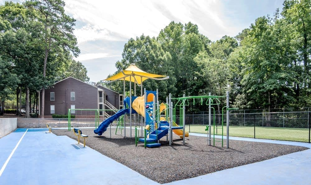 Children's playground at Six Forks Station in Raleigh, NC