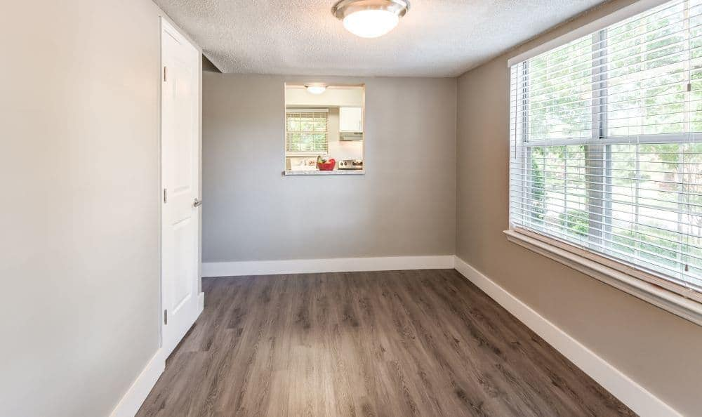 Hardwood floors at apartments in Raleigh, NC