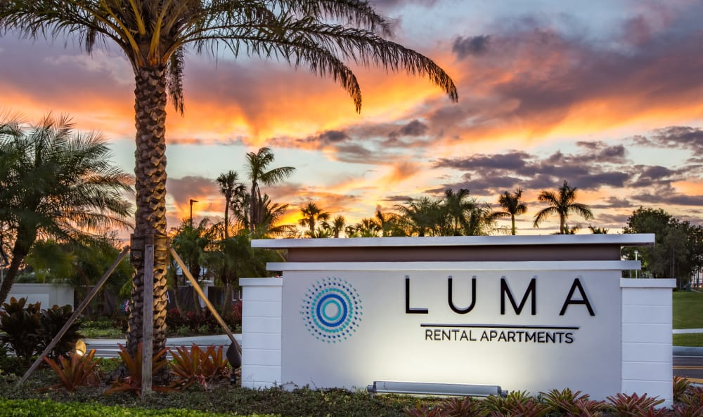 Signage at Luma at West Palm Beach