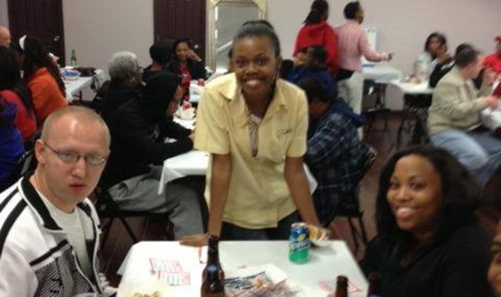 A photo among friends atHarvey, Louisiana