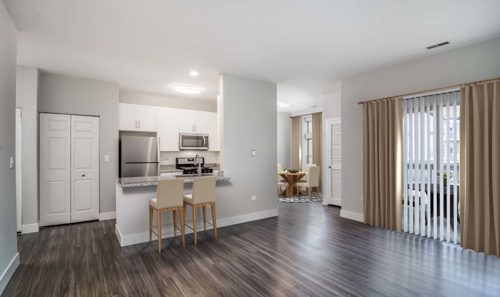 Open and specious floor plans at The Preserve at Osprey Lake in Gurnee, Illinois