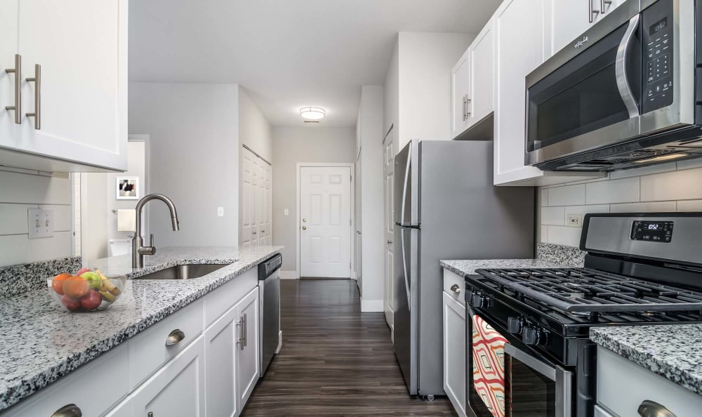 Model Home modern kitchen view  The Preserve at Osprey Lake in Gurnee