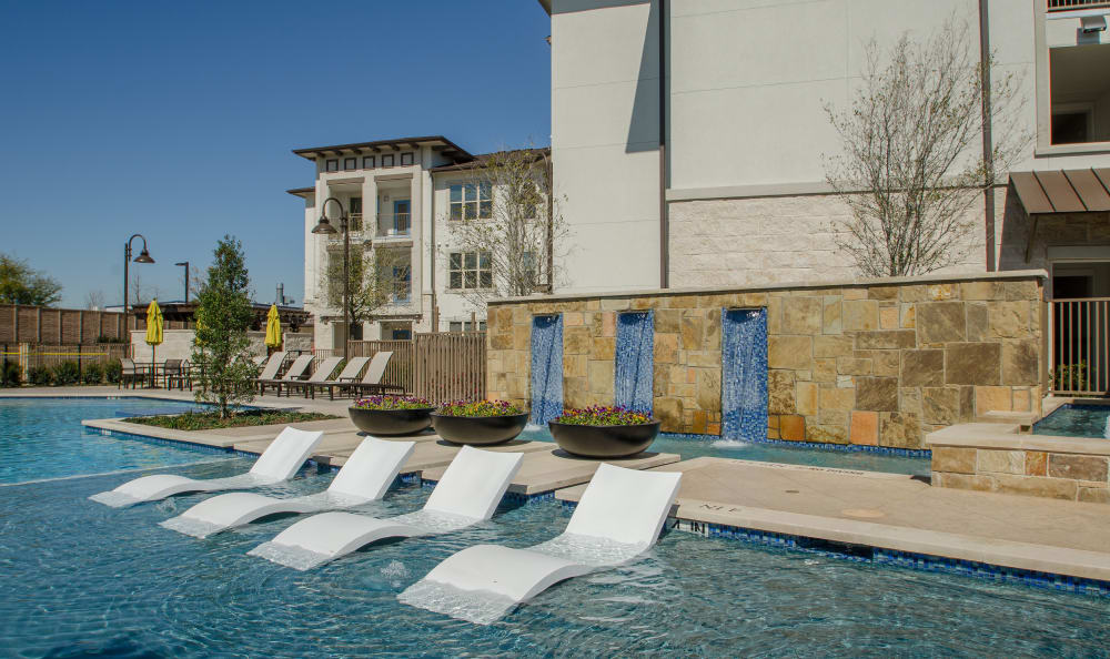 Pool seating at Domain at Midtown Park
