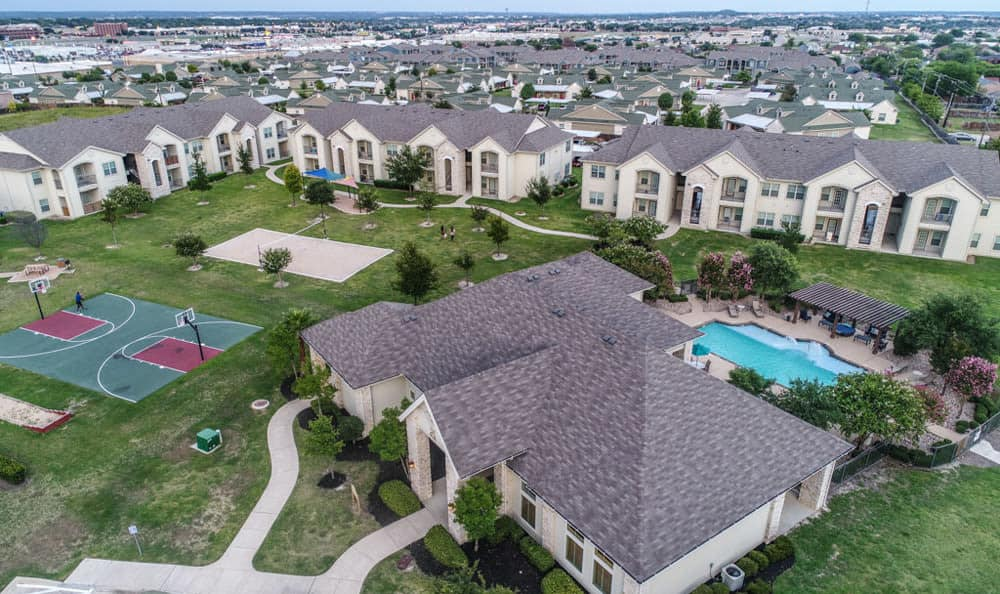 Aerial view at Stone Creek Apartments