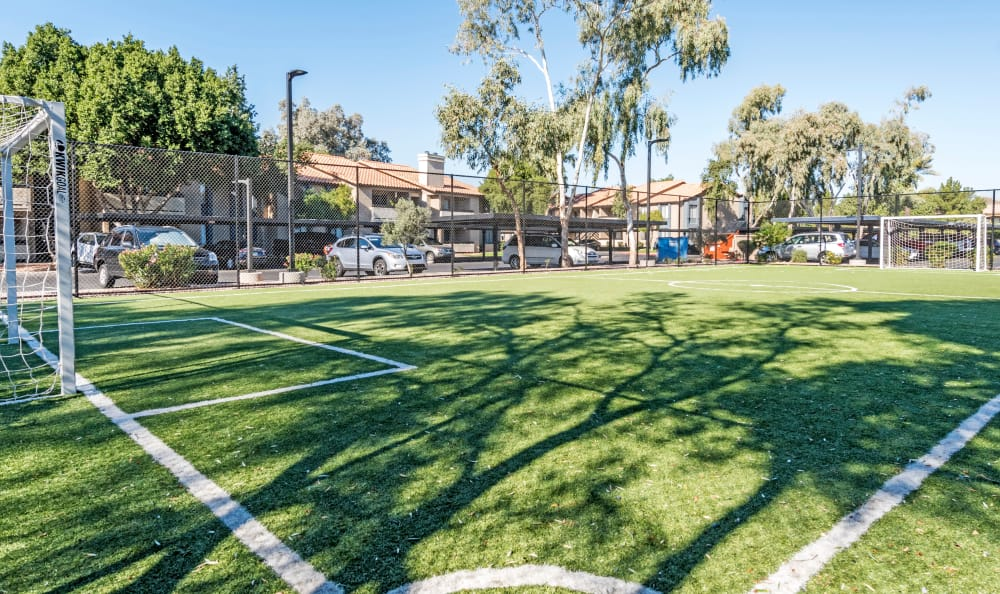 Soccer field at Elliot's Crossing Apartment Homes in Tempe
