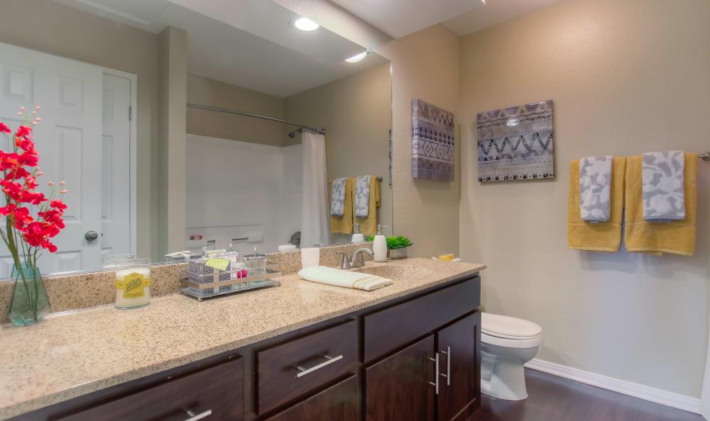 Master Bathroom At Tuscany Village Apartments