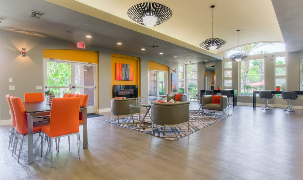 Clubhouse Seating Area At Tuscany Village Apartments