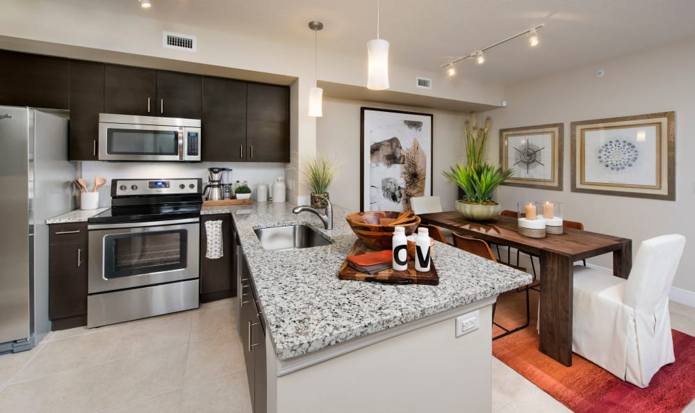 Our kitchens at Casa Vera feature modern appliances