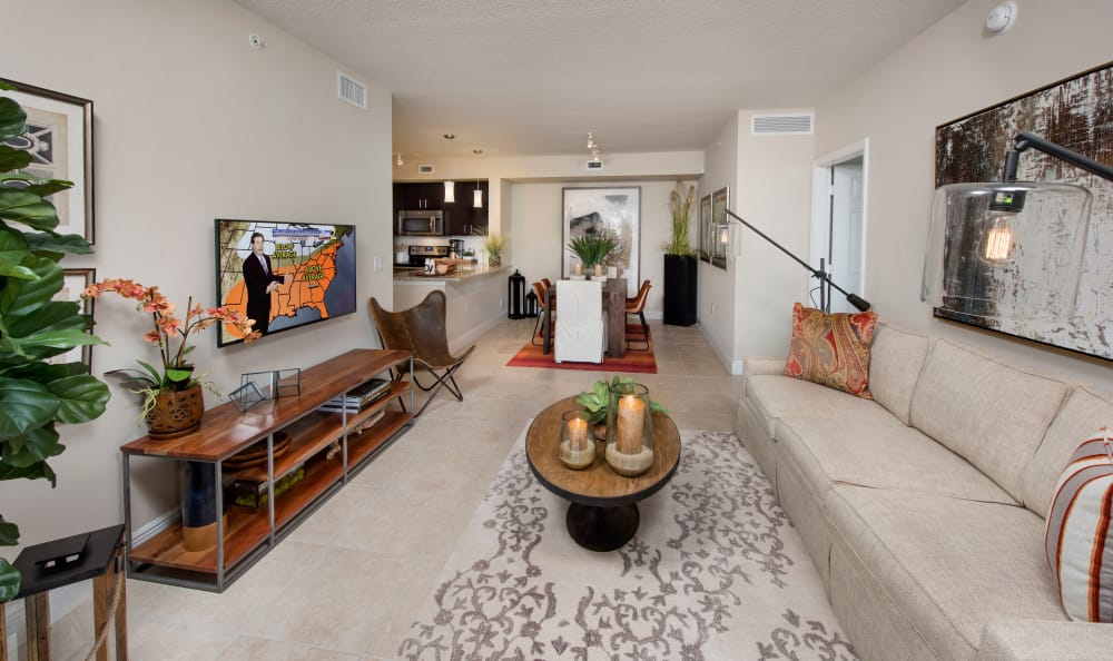 Our apartments in Miami feature spacious living spaces