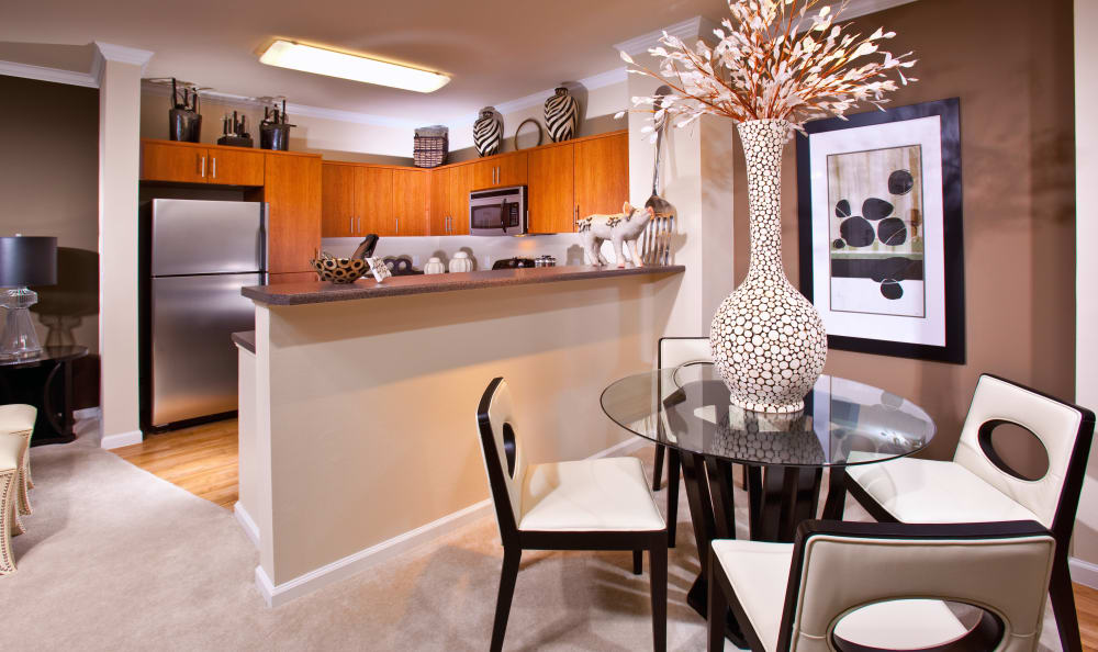 Dining area in model home at Mountain Gate & Mountain Trails