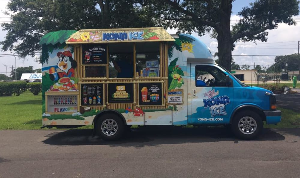 Ice cream truck at Avalon Apartment Homes
