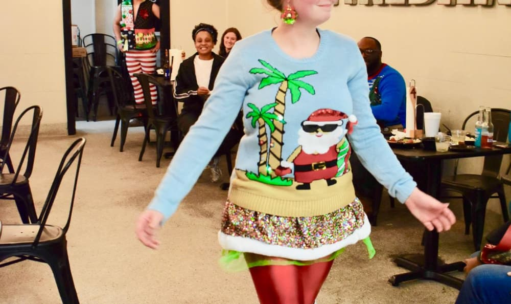 Ugly sweater contest at Avalon Apartment Homes