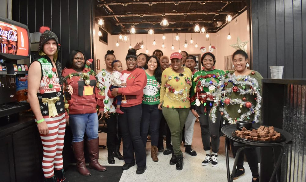 Ugly sweater event at Avalon Apartment Homes