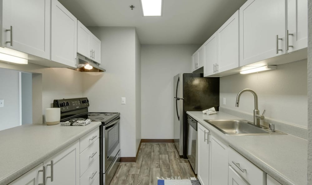 White Renovation Kitchen of Bridge Creek Apartments in Vancouver, Washington