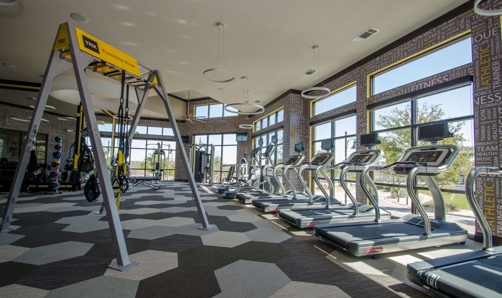 Fitness center at Domain at Midtown Park