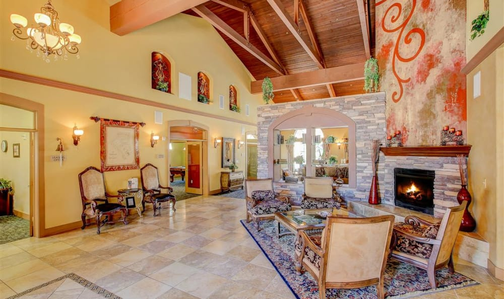 Interior clubhouse view at The Highlands at Spectrum in Gilbert, AZ