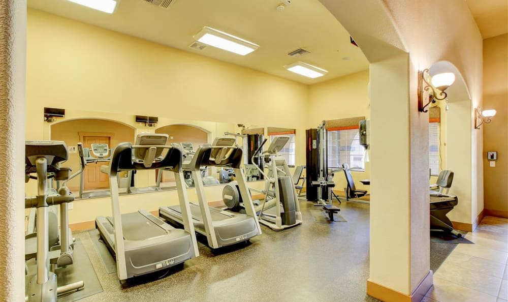 Onsite fitness center at The Highlands at Spectrum in Gilbert, AZ