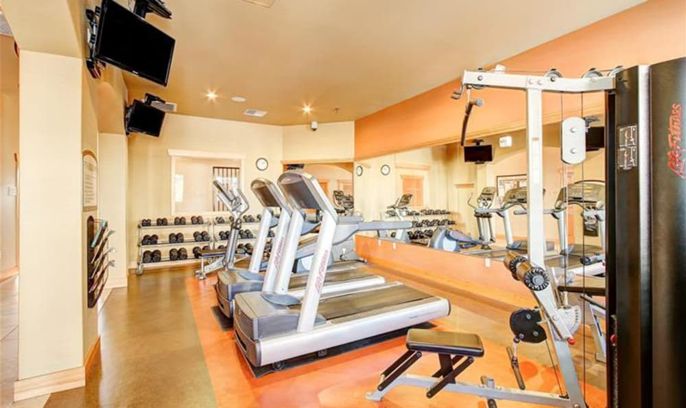 Onsite fitness center at Woodland Apartments in Olympia, WA