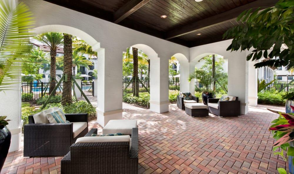 outdoor patio at Casa Vera in Miami, FL