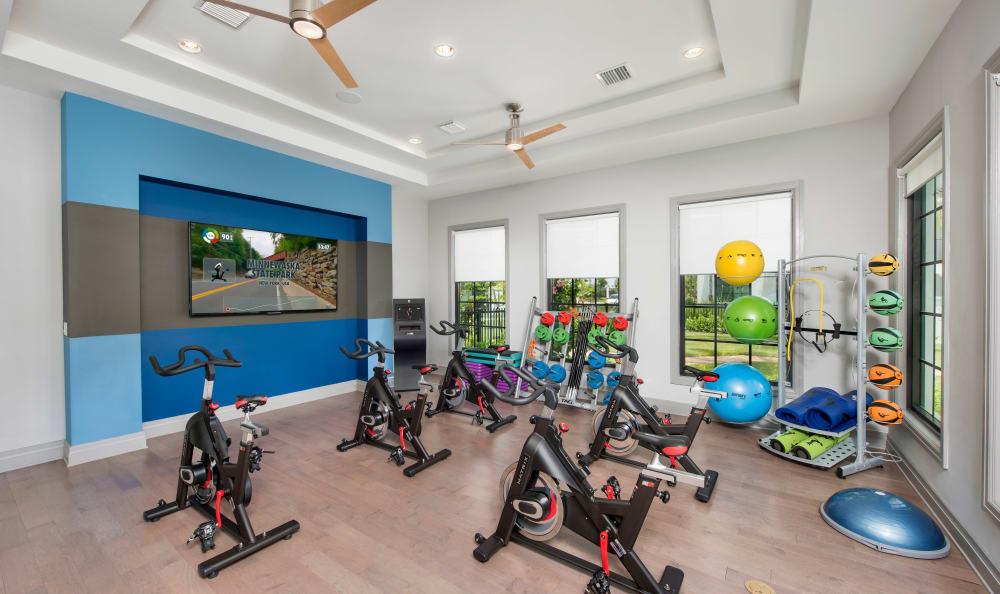 Fitness center at Casa Vera in Miami, FL
