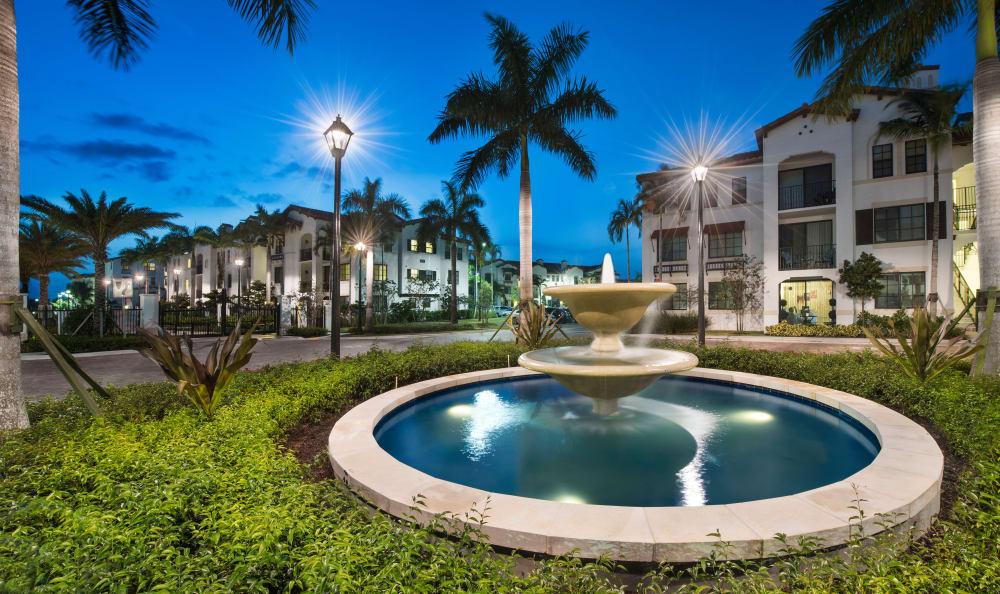 Pool at twilight at Casa Vera in Miami, FL