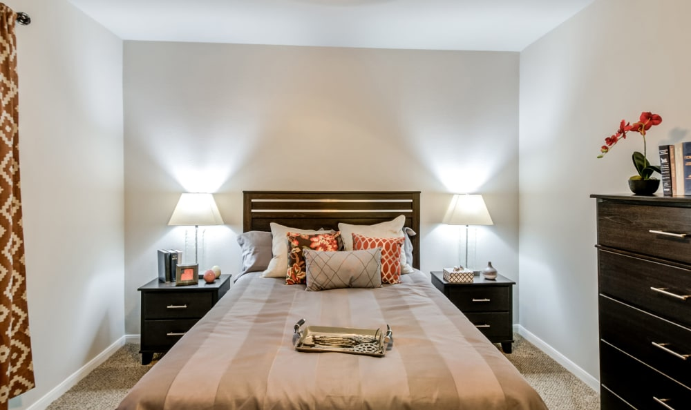 Bedroom at Meridian Apartments in San Antonio, Texas