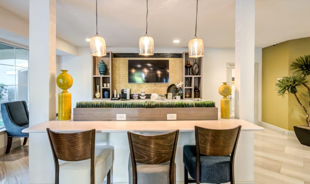 Common living area at Meridian Apartments in San Antonio, Texas