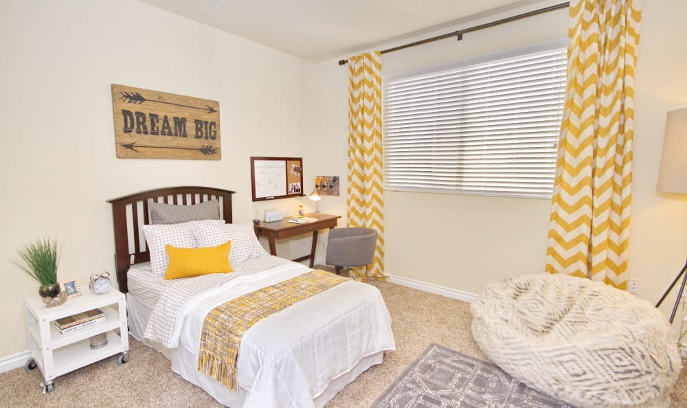 Child's bedroom in model home at IMT Townhomes at Magnolia Woods in Sherman Oaks, CA