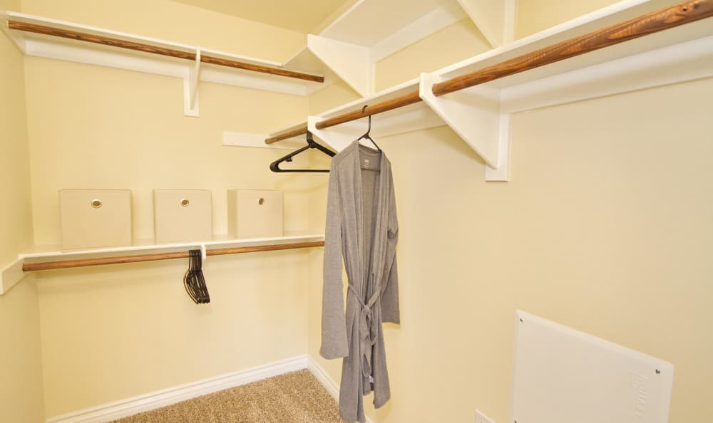 Large walk-in closet in model home master bedroom at IMT Townhomes at Magnolia Woods in Sherman Oaks, CA
