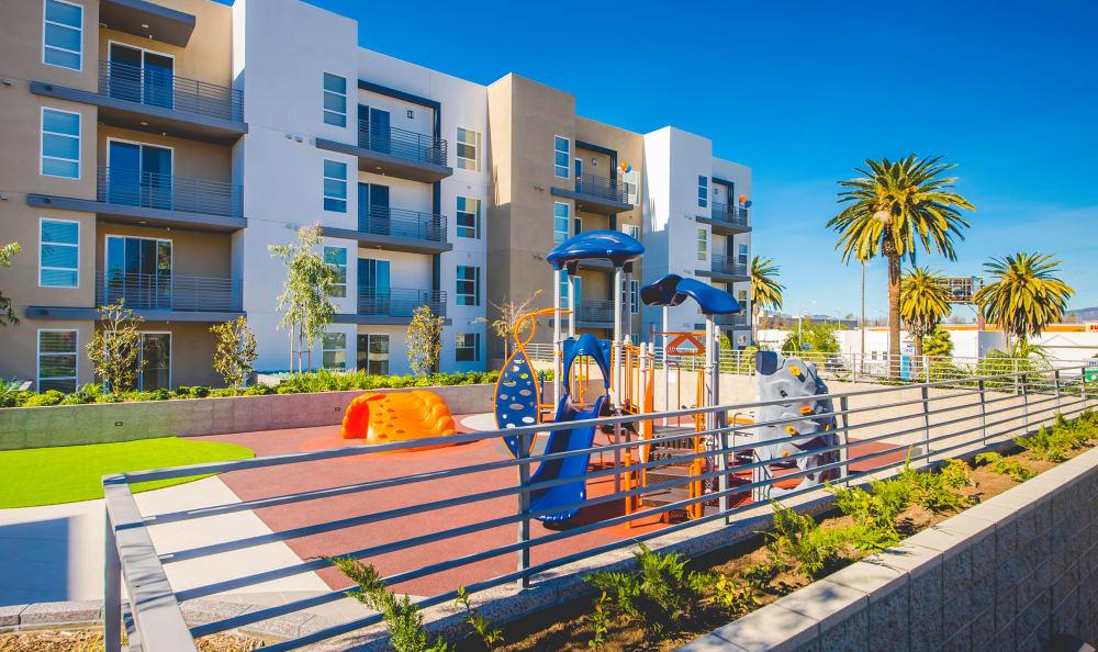 Onsite playground at IMT Sherman Circle in Van Nuys, CA