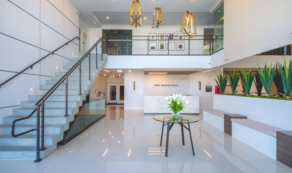 Beautiful lobby at IMT Sherman Circle in Van Nuys, CA