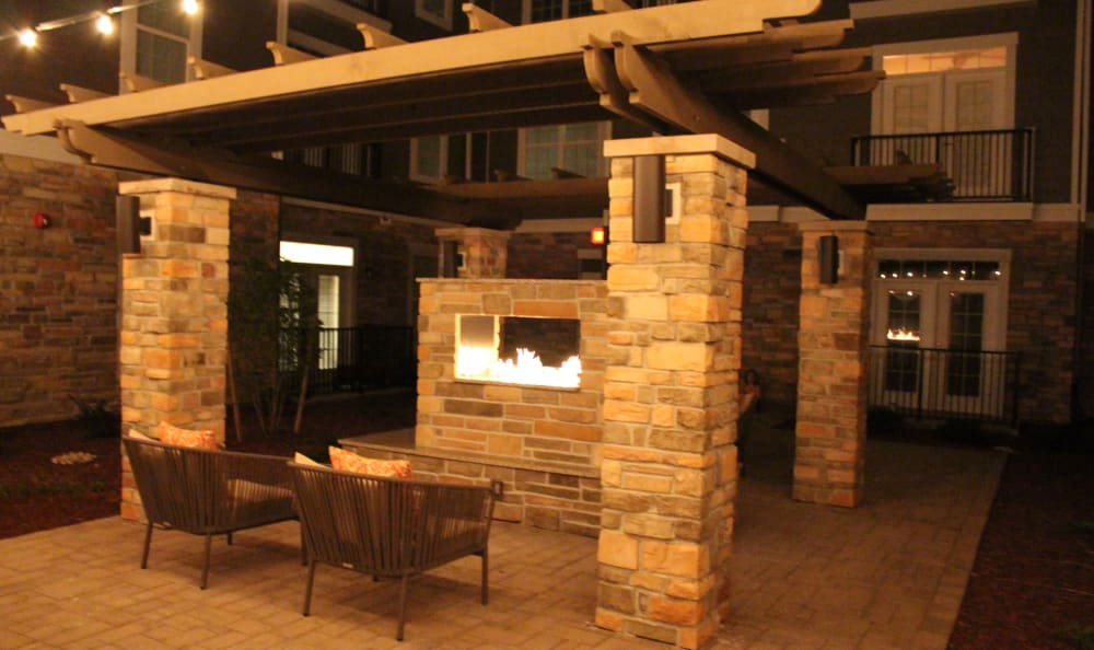 Apartments with a patio fireplace at Red Knot at Edinburgh