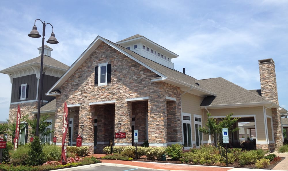 Front View of Apartments Building at Red Knot at Edinburgh in Chesapeake, Virginia