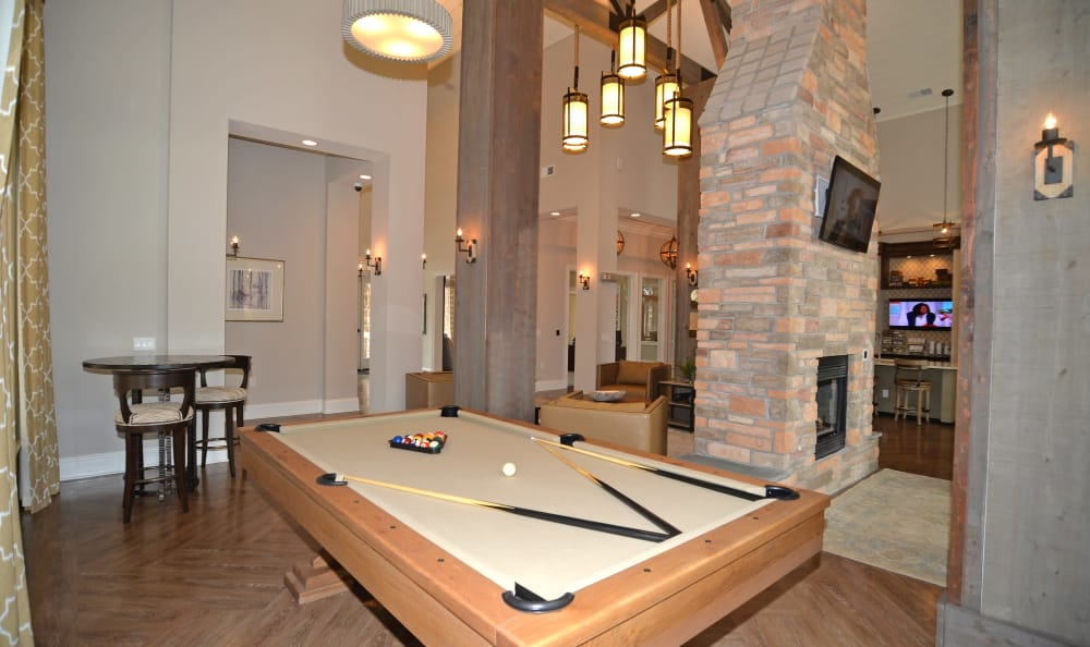 Clubhouse Pool table at  Red Knot at Edinburgh in Chesapeake, Virginia