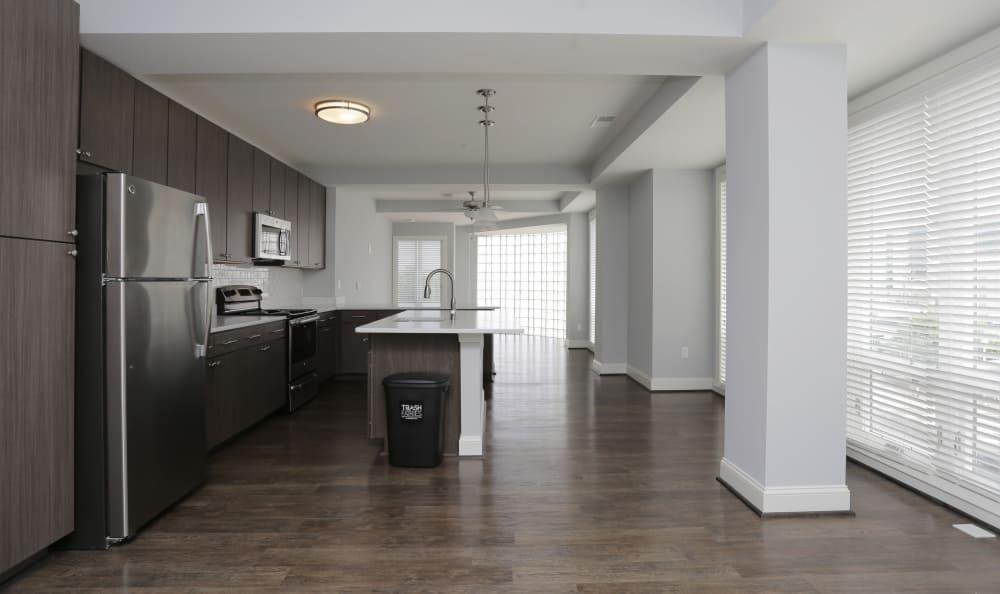 Beautiful model apartment home with hardwood floors and bay windows at Aqua on 25th in Virginia Beach, VA