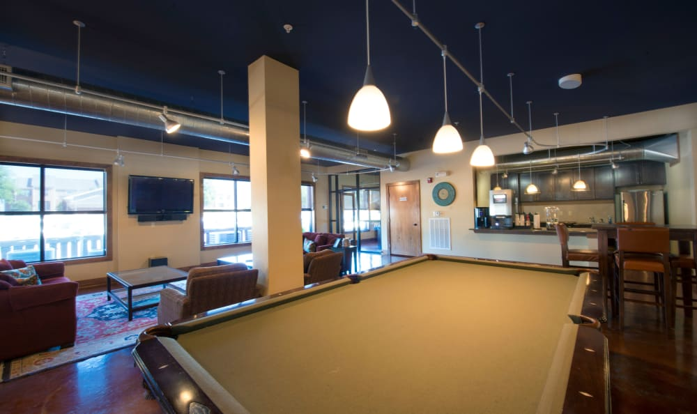 Pool table at The Atlantic McKinney Ranch in McKinney, Texas