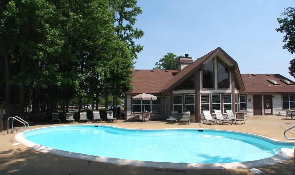 Swimming pool at Woodbriar Apartments in Chesapeake, Virginia