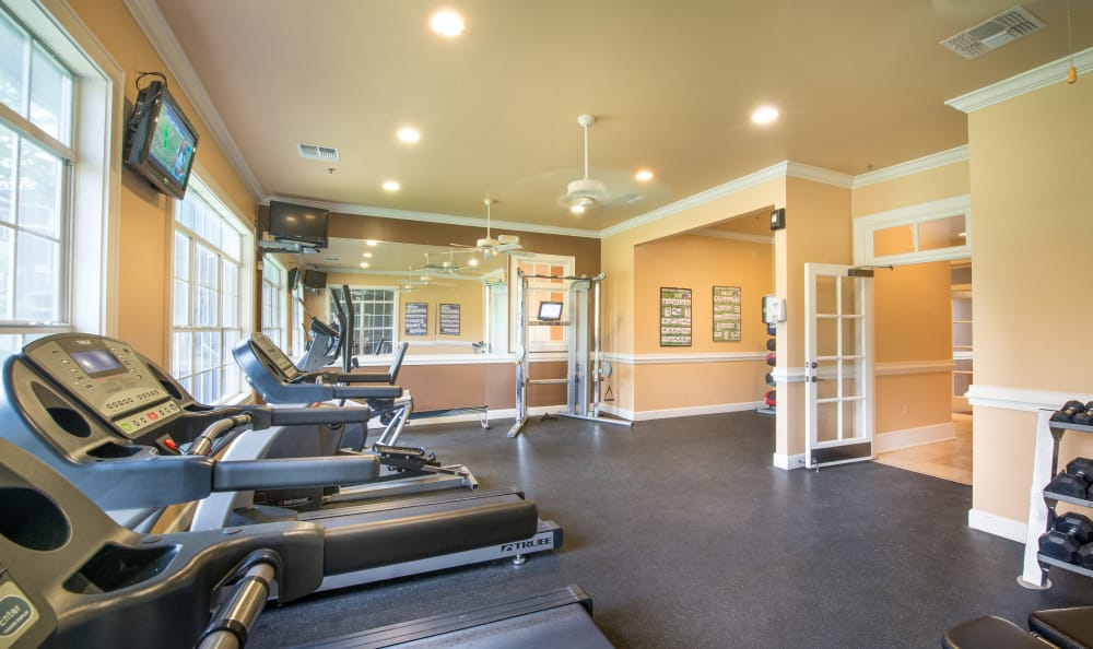 Fitness center at The Atlantic Stonebriar in The Colony, Texas