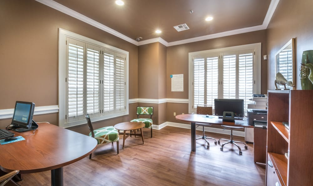 Leasing office at The Atlantic Stonebriar in The Colony, Texas
