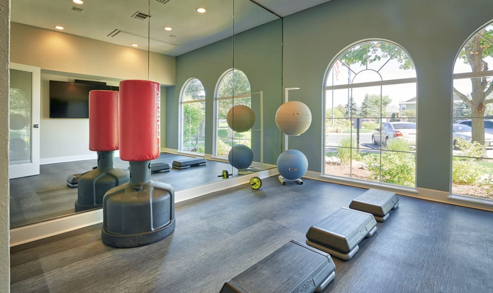 yoga room at Gateway park apartments