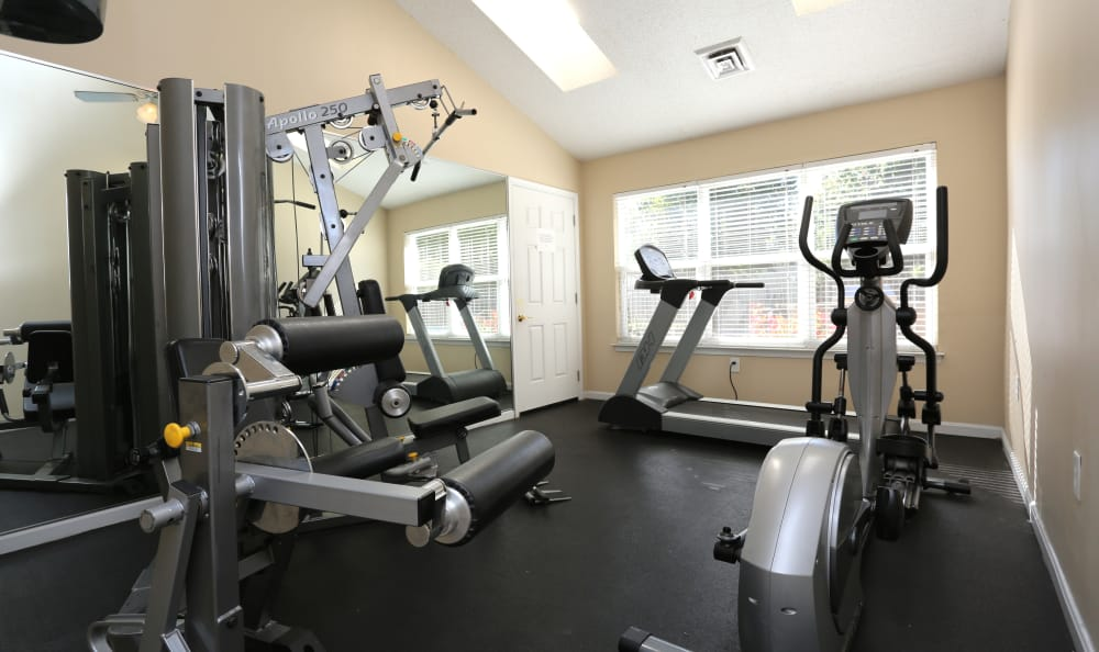 Fitness center at Willow Oaks Apartments in Chesapeake, Virginia