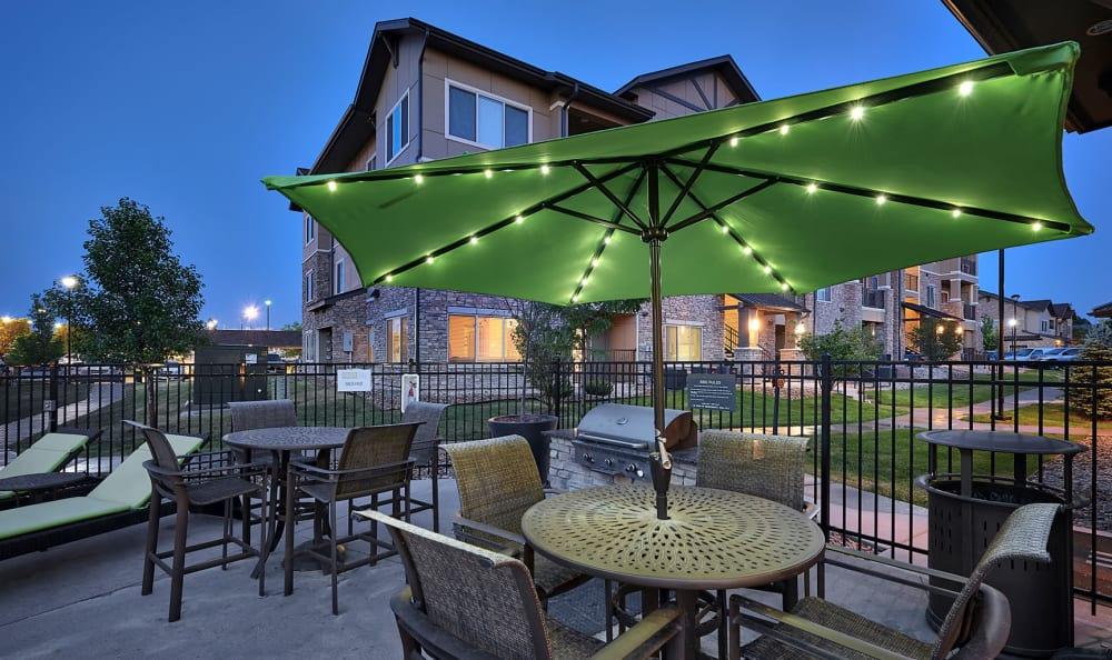 {location name}} Outdoor lounge area poolside