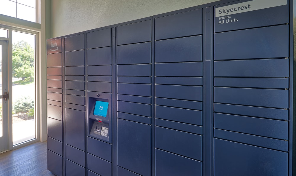 24-Hour Package Locker at Skyecrest Apartments