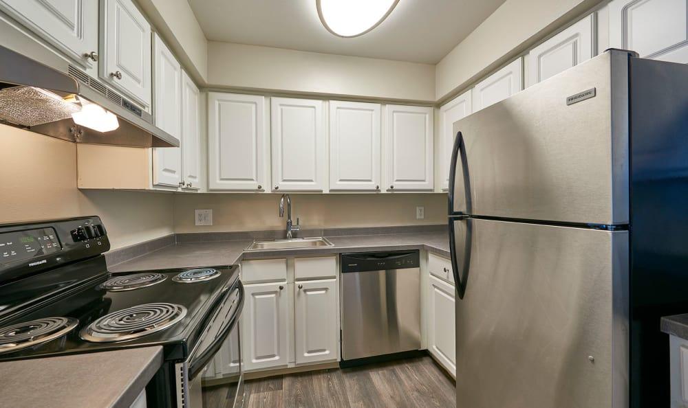 Modern kitchen at Montair Apartment Homes in Thornton, Colorado
