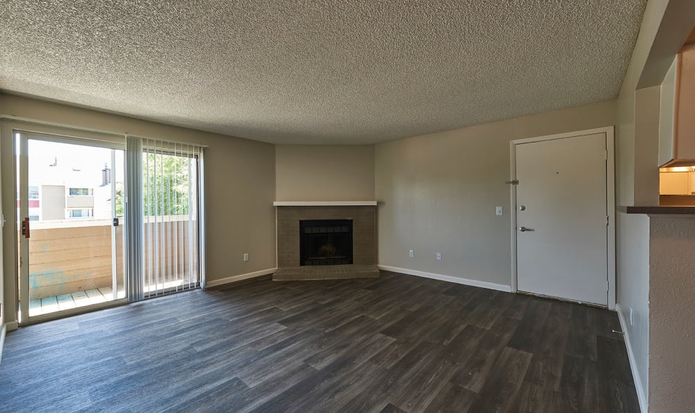 Spacious living room at Montair Apartment Homes in Thornton, Colorado