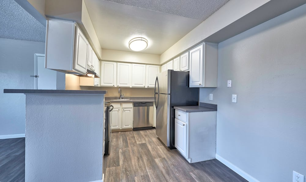 Modern kitchen at apartments in Thornton, Colorado