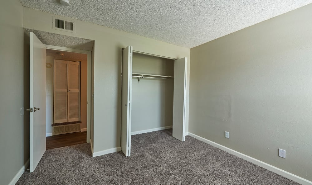 Spacious bedroom at Montair Apartment Homes in Thornton, Colorado
