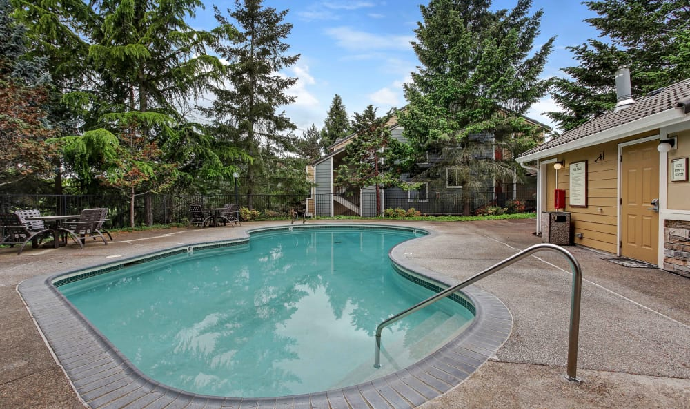 Swimming pool at Maybeck at the Bend in Tigard, Oregon